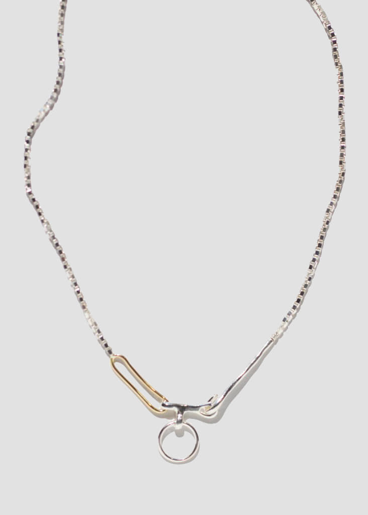 TWIN LINK NECKLACE - STERLING SILVER