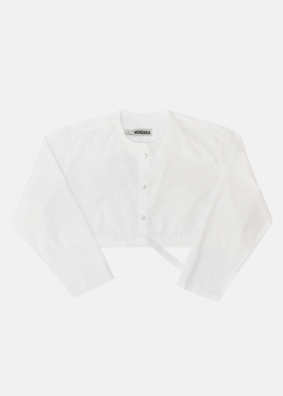 BUTTONED CROP SHIRT WHITE